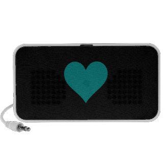 Doodle do coração caixinhas de som para notebook