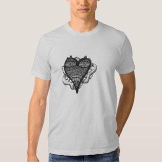Doodle do coração camiseta