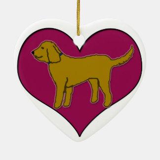 Doodle em meu coração ornamento de cerâmica coração