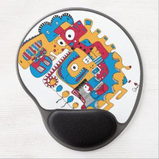Doodle engraçado mouse pad em gel