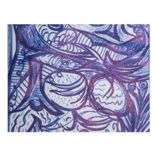 Doodle o! cartão postal