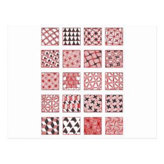 doodle patterns cartão postal