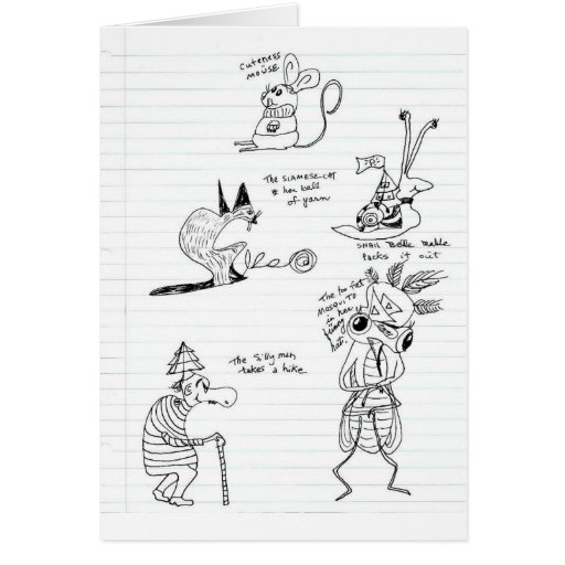 Doodles Cartões