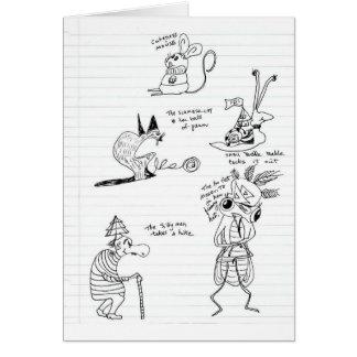 Doodles Cartão Comemorativo
