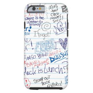 Doodles épicos da escola capa para iPhone 6 tough