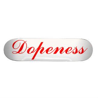 Dopeness pelos dentes brindados shape de skate 18,4cm