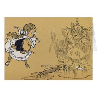Dorothy que derrete a bruxa má mágico de Oz Cartão Comemorativo