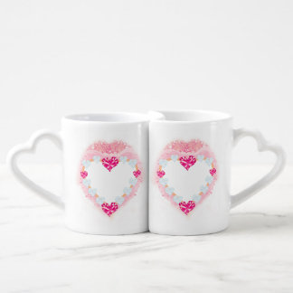 dos amantes cor-de-rosa do coração dos namorados a caneca lovers