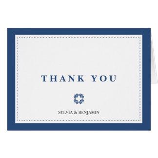 Dos azuis marinhos da beira obrigado que cartão de nota