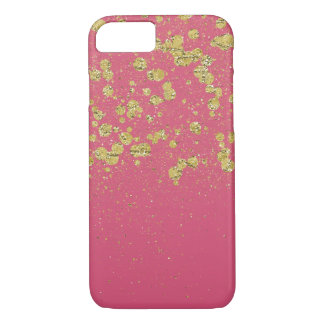 Dos confetes cor-de-rosa da faísca do ouro pontos capa iPhone 8/7