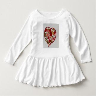 """Dos """"dresd do plissado corações e das flores"""" tshirts"""