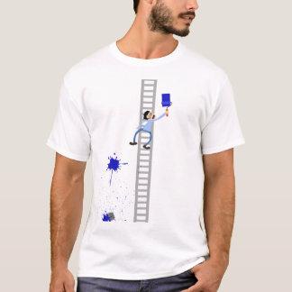 Dos homens azuis do Splatter do pintor o t-shirt