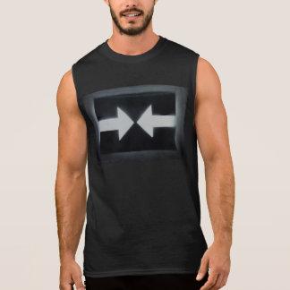 Dos homens t-shirt sem mangas do algodão ultra