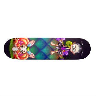 Dos melhores amigos arte do pixel para sempre shape de skate 20,6cm