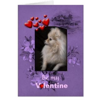 Dos namorados filhote de cachorro bonito de cartão comemorativo
