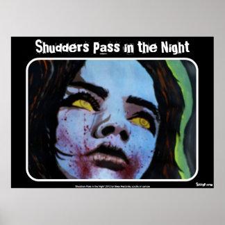 Dos passagem Shudders no poster da noite zombi