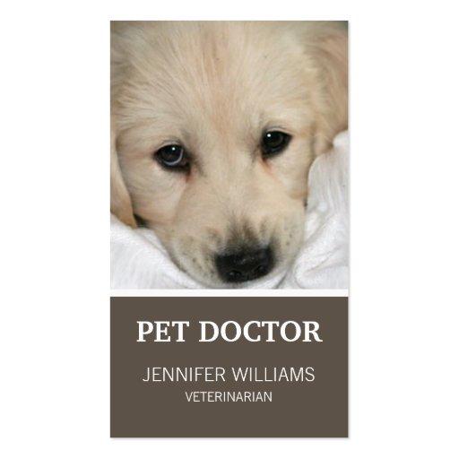 Doutor cartão de visita do cão de Groupon