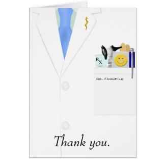 Doutor cartões de agradecimentos