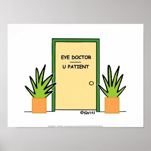 Doutor de olho engraçado poster para o escritório