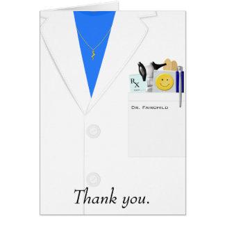 Doutor fêmea cartões de agradecimentos
