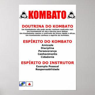 Doutrina de Kombato Pôsteres