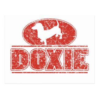 DOXIE-em-Círculo-Afligido Cartão Postal