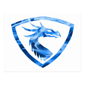 Dragão azul 1 do fogo cartão postal
