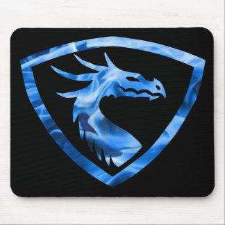 Dragão azul 1 do fogo mouse pads