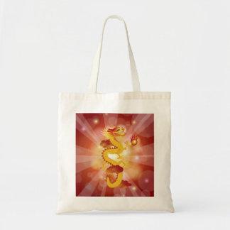 Dragão chinês com saco da bola de fogo bolsa para compra