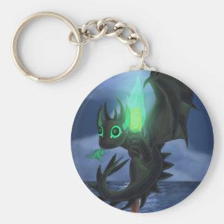 Dragão com fogo verde chaveiro