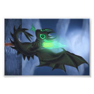 Dragão com fogo verde foto