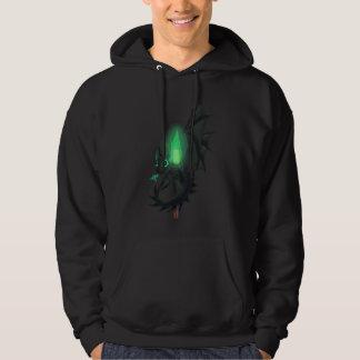 Dragão com fogo verde moletom com capuz