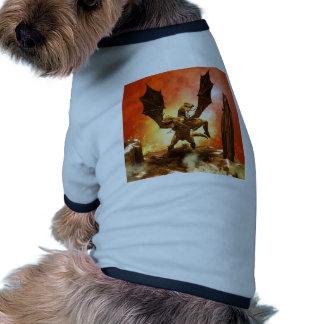 Dragão com uma menina roupas para cães