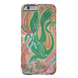 Dragão de respiração do fogo, abstrato capa barely there para iPhone 6