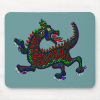 Dragão de respiração do fogo mouse pad