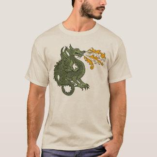 Dragão de respiração do fogo t-shirt