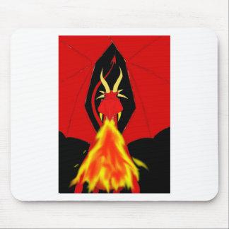 Dragão de respiração do fogo vermelho mousepads