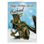 Dragão do eith do cartão de Natal do marido