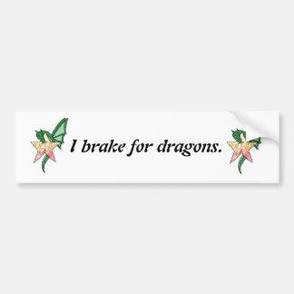 Dragão do fogo adesivo para carro