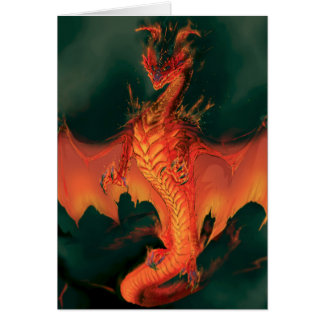 Dragão do fogo: Brimstone Cartão Comemorativo