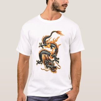 Dragão do fogo camisetas