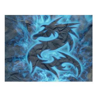Dragão do fogo cartão postal