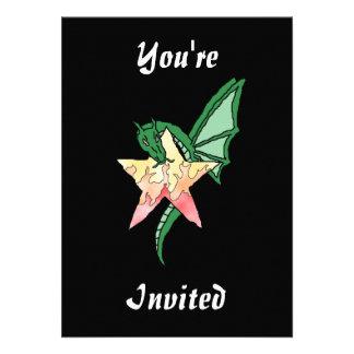 Dragão do fogo convite