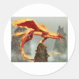 dragão do fogo das imagens (2) adesivo