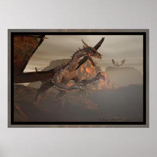 Dragão do fogo por Michelle mais selvagem Posters
