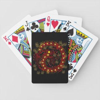 Dragão do fogo vermelho cartas de baralhos