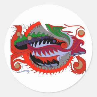 Dragão do fogo (vermelho & verde) adesivo