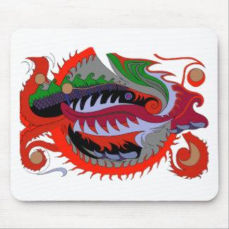 Dragão do fogo (vermelho & verde) mousepad