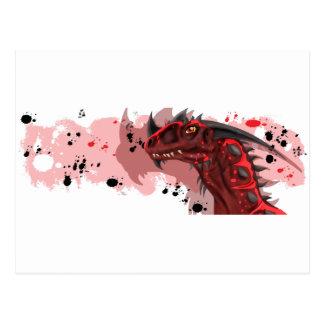 Dragão do fogo (versão branca) cartão postal