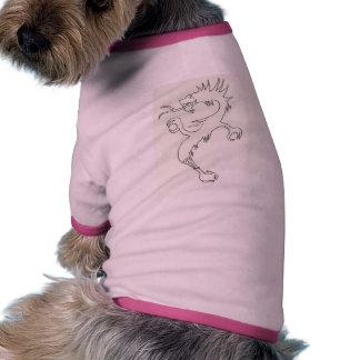 Dragão em um bule camisa ringer para cachorro